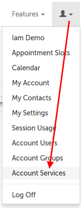 Account Services option
